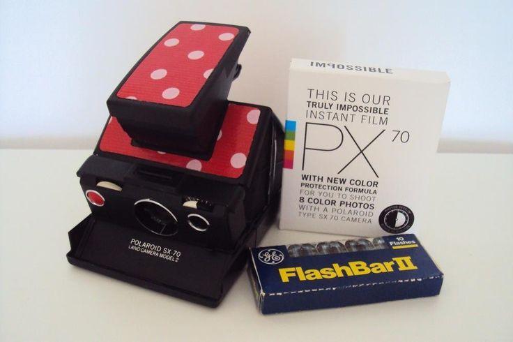 Polaroid SX-70 Faltkamera Model 2   Impossible PX 70 Film   Blitzschiene via POLARISMUS. Click on the image to see more!