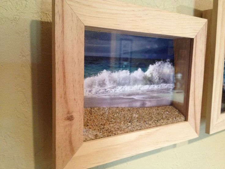 Beach Shadowboxes - Photo of the beach in a shadow box with a bit of beach sand in front of it. Perfect for capturing vacations.: Ideas, Beach Photos, Beaches, Display Beach, Craft, Awesome, Shadow Box, The Beach