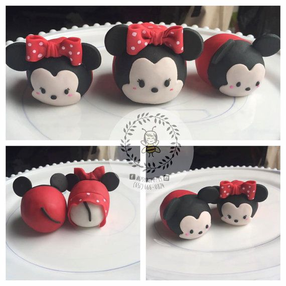 73 best Tsum Tsum fondant images on Pinterest Anniversary cakes