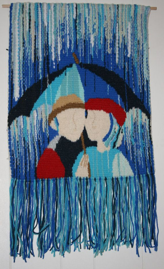 Under Umbrella. Hand woven tapestry by mashakeen on Etsy, $250.00