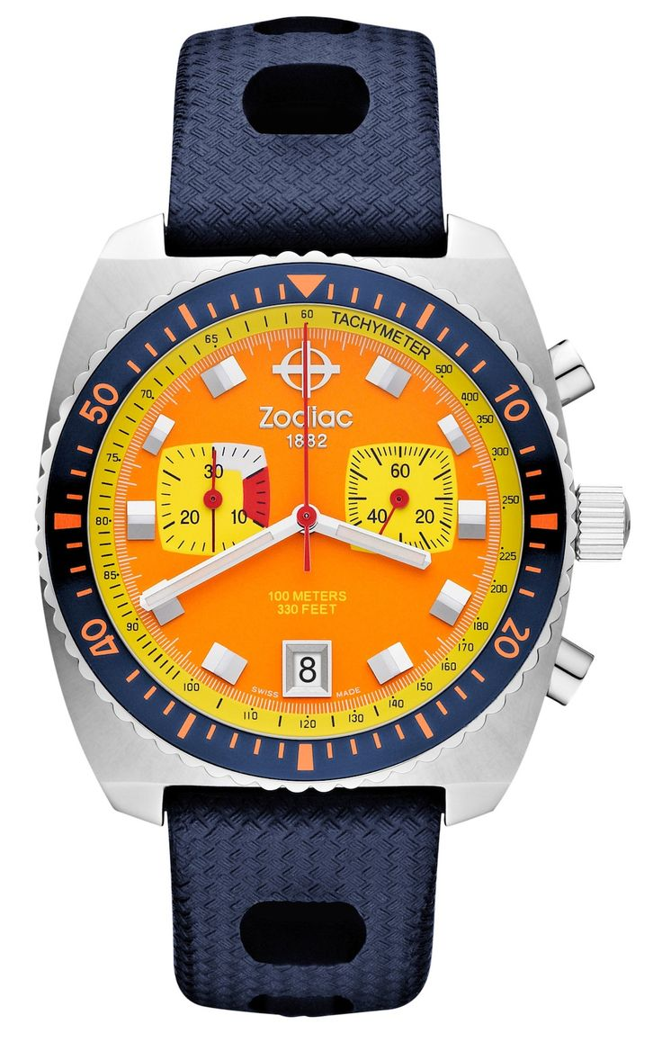 Zodiac Sea Dragon Limited Edition Watch In Bright Retro Colors.  Dreamy. . .