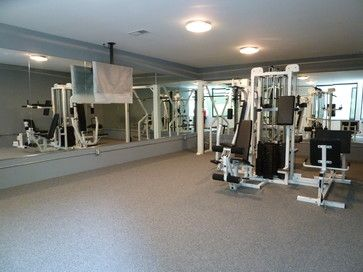 Modern Gym Photos Basement Gym Design Ideas, Pictures, Remodel, And Decor    Page