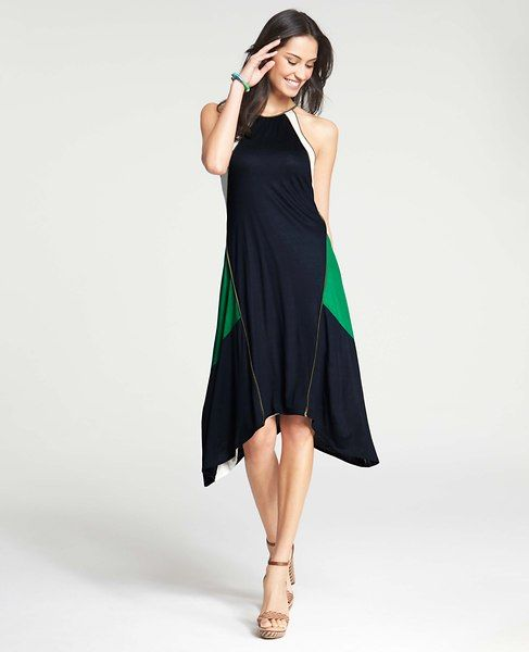LOVE the flow and colors of this dress! | Ann Taylor - AT Petite New Arrivals - Petite Regatta Dress