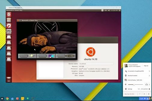 Google's Chrome OS users can now run Linux in a window using the Crouton Chrome extension.