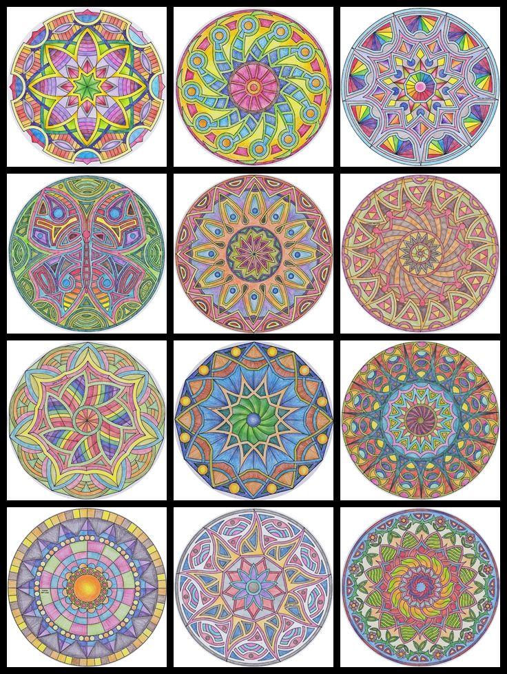 what madeleine loves: Coloring Mandalas