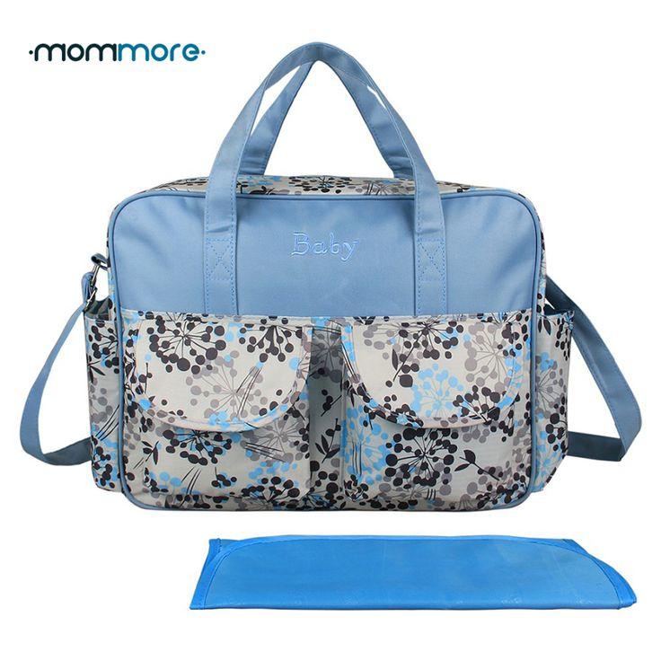 mommore Printed Diaper Bag Baby Nappy Bag With Changing Pad Maternity Bags Mummy Nursing Handbags Waterproof Baby Stroller Bag