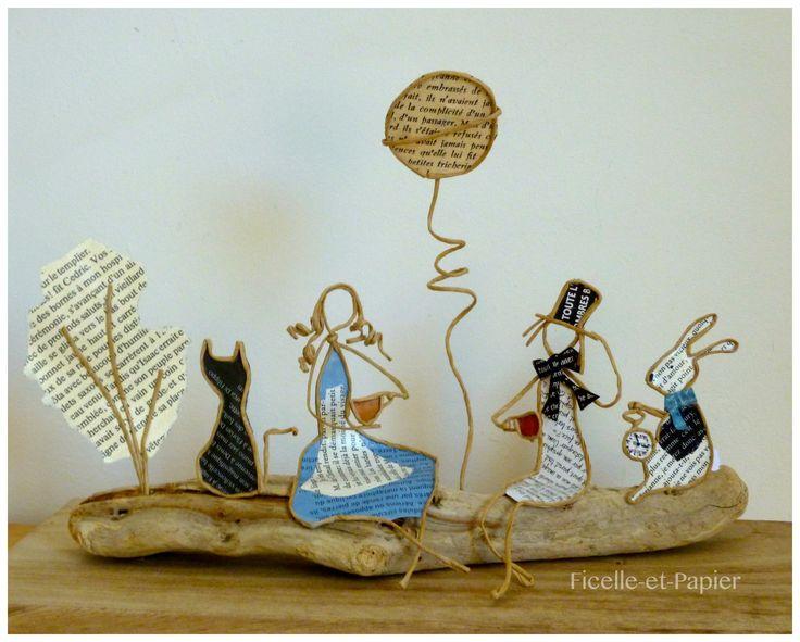 Alicja w Krainie Czarów - figurki ciąg i papier