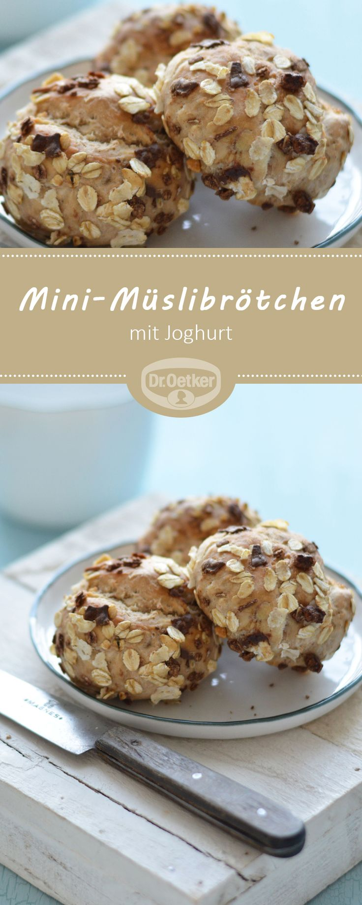 Mini-Müslibrötchen: Leckere Müslibrötchen mit Joghurt zum Frühstück