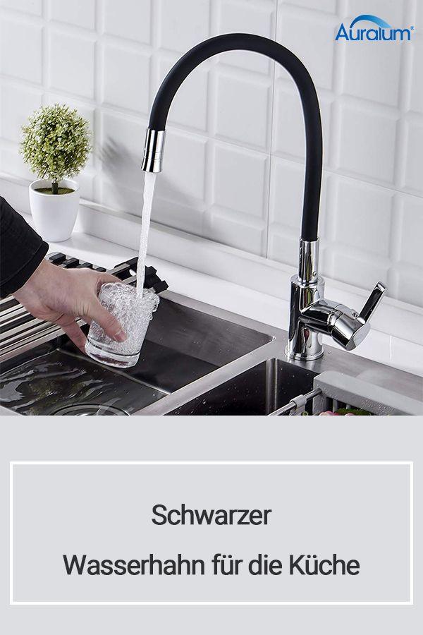Schwarzer Wasserhahn Fur Die Kuche Wasserhahn Hahnchen Mischbatterien