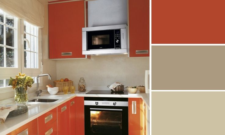 cuisine orange couleurs sable leroy merlin