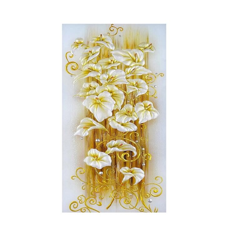 Crystal Lily Flower Cross Stitch Decorative Needlework Diamond Mosaic Diamond Embroidery for 5d diy diamond painting crystal