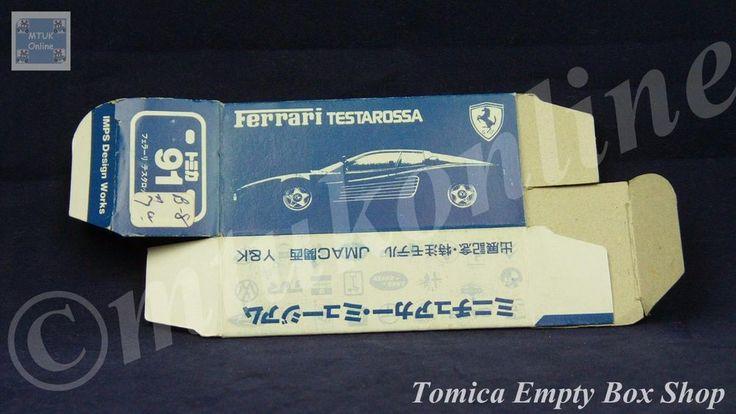 TOMICA 091B FERRARI TESTAROSSA | 120B PORSCHE 959 | ORIGINAL BOX ONLY | 1990