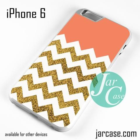 Cool Glitter Gold Chevron Phone case for iPhone 6 and other iPhone devices