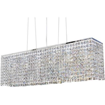 """40"""" Rectangular Dining Room Crystal Chandelier, Chandeliers,Crystal, Metal, electrical components, by Lightupmyhome"""