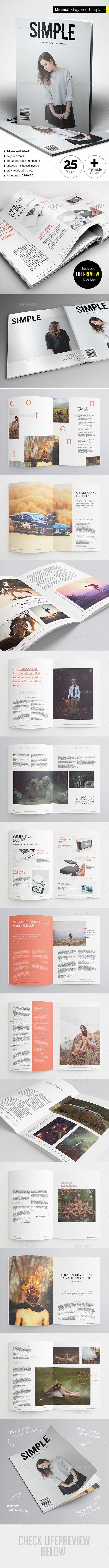 Minimal Magazine Template #design Download: http://graphicriver.net/item/minimal-magazine/12484168?ref=ksioks