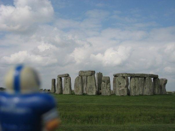 At Stonehenge in 2008. Amesbury, England.
