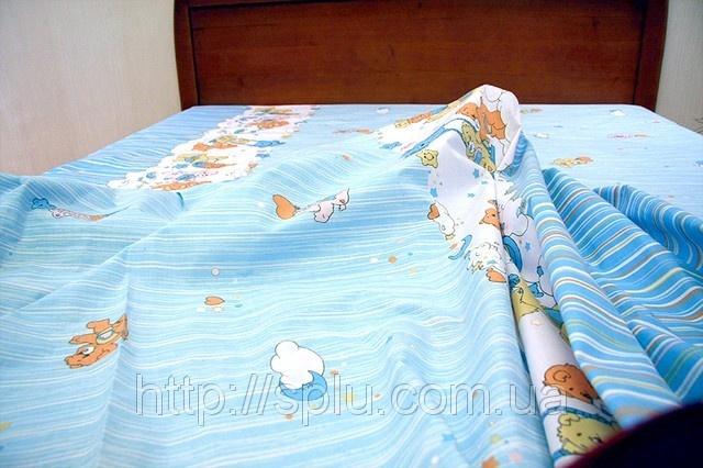 Детский голубой хлопковый комплект с мишками: продажа, цена в Одессе. детское постельное белье от Интернет-ателье Сплю - 15385272