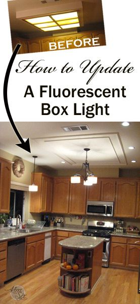 8 best kitchen lighting ideas images on pinterest lighting ideas removing a fluorescent kitchen light box mozeypictures Choice Image