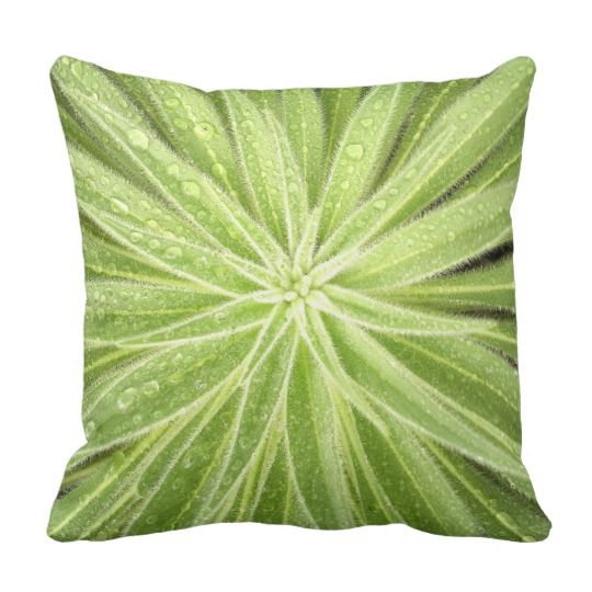 Sparkling Drops Throw Pillow by www.zazzle.com/htgraphicdesigner* #zazzle #gift #giftidea #throw #pillow #throwpillow #green #plant #homedecor