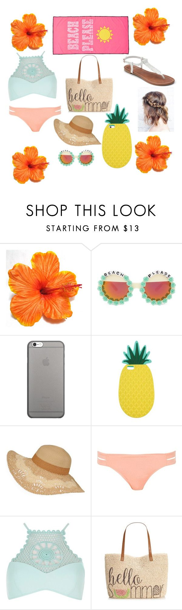 """""""Cute beach outfit"""" by katienstelzer ❤ liked on Polyvore featuring Rad+Refined, Native Union, Miss Selfridge, River Island, Style & Co. and Apt. 9"""