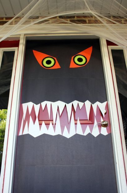 1000 Ideas About Monster Door Decoration On Pinterest