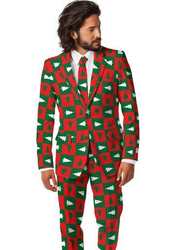 Shinesty tacky Christmas sweater holiday tree suit