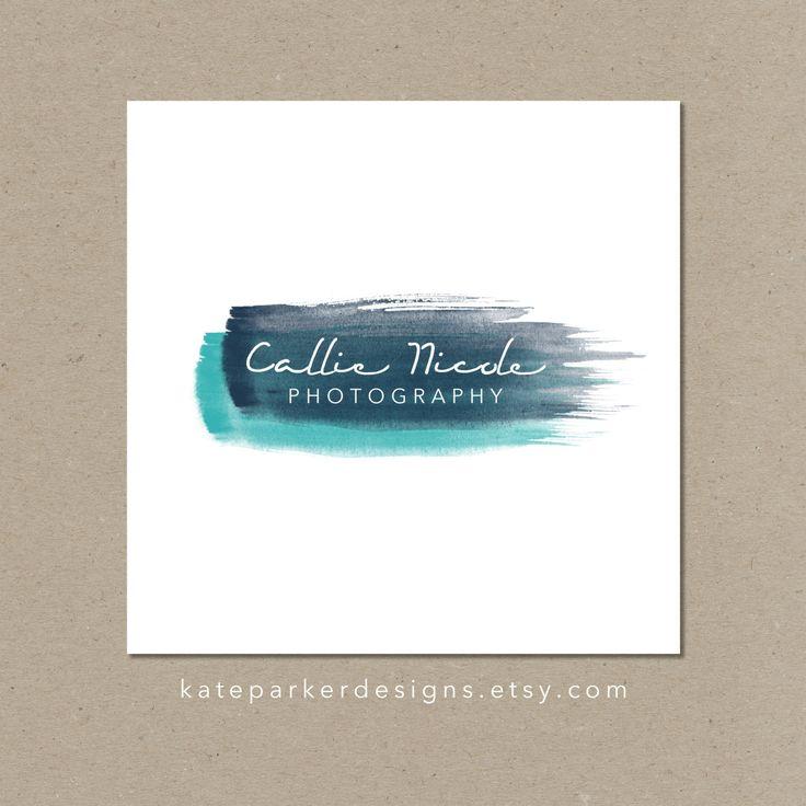Watercolor Logo & Watermark by KateParkerDesigns on Etsy, $30.00