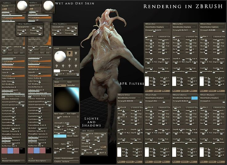 Zbrush how to render creature 01