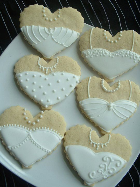 Wedding Cookies Bride and Groom Heart cookies by SweetArtSweets