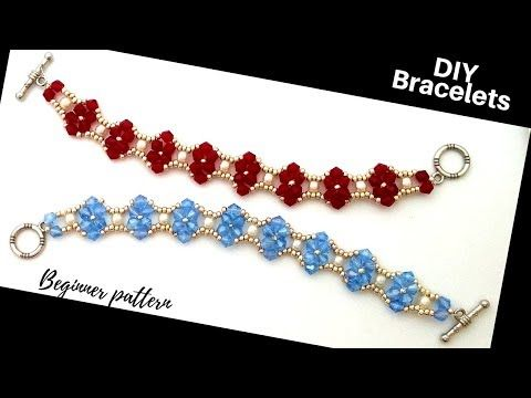 How to make elegant bracelets. Easy beading tutorial. Beaded Bracelets – YouTube – Weihnachtsbasteln