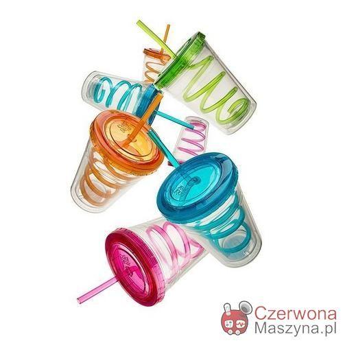 Kubki Cool Gear Chiller 430 ml, przezroczyste, z zakręconymi słomkami - CzerwonaMaszyna.pl