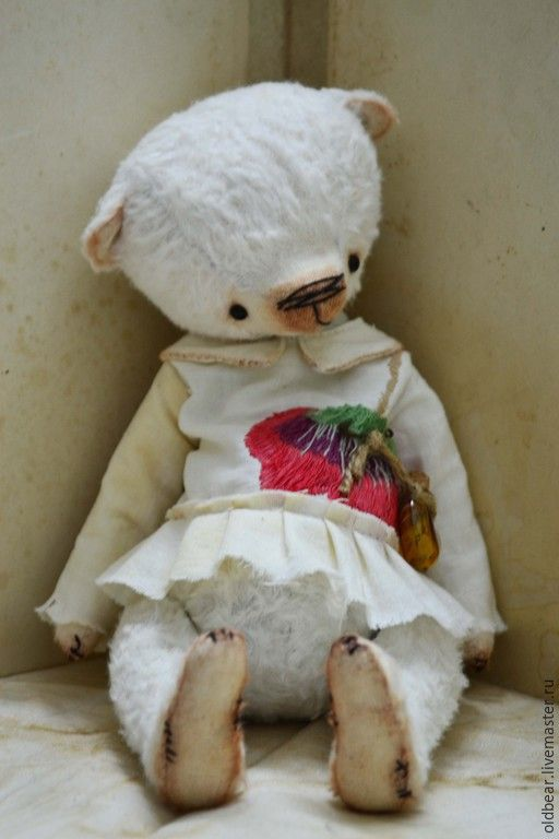 Купить Make a Wish..... - белый, мишка тедди, мишка ручной работы