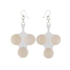 Nano earrings, white - Aarikka