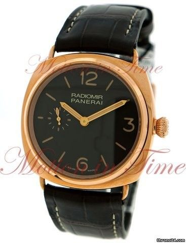 Panerai Radiomir Oro Rosso, Brown Dial, Limited Edition to 750 Pieces - Rose Gold on Strap