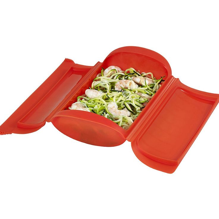 Lékué Microwave Cookware - Red Shallow Steam Case 650ml