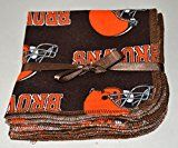 1 Ply Printed Flannel Washable Browns Football 1010 inches 5 Pack  Little Wipes (R) Flannel