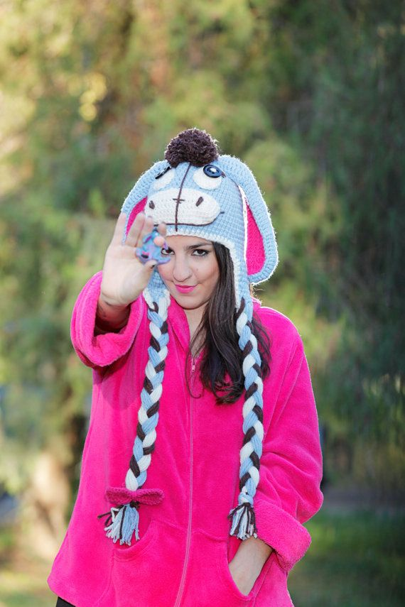 Eeyore Animal Crochet Hat for Youth and Adults in by CinnaMonvl, €100.00