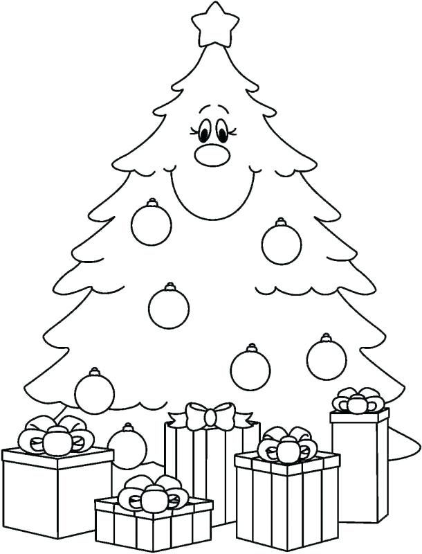 Coloring Sheets Christmas Tree Collection