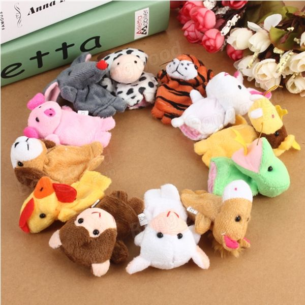 12x Family Finger Puppets Cloth Doll Baby Educational Hand Toy Sale - Banggood.com