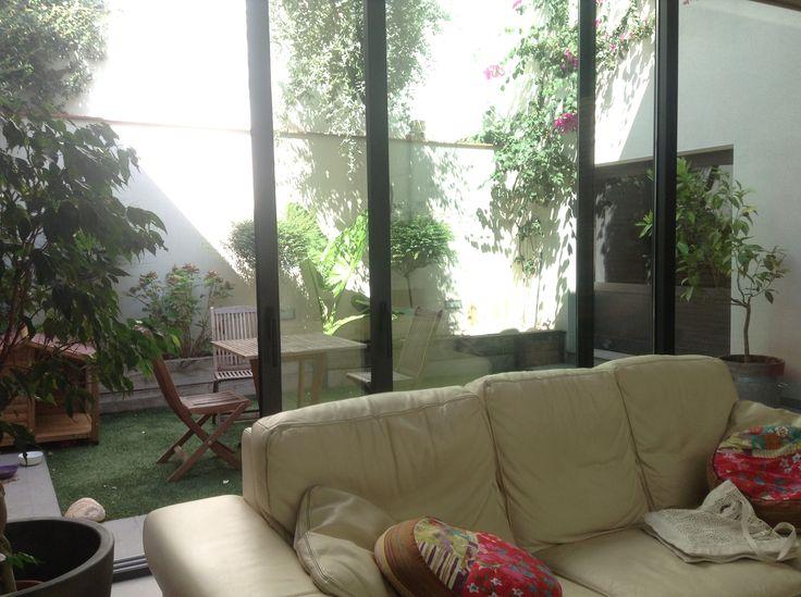 del salón al jardín