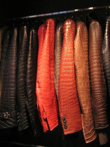 I would love this closet full of various style and color Hermes alligator jackets...snap!