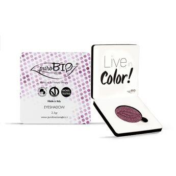 Sombra de ojos burdeos metalizado PuroBio. Ideal para pieles claras y cabellos rubios. Tanto para el día como la noche. Apto para veganos. Libre de níquel. #CosmeticaNatural #PuroBio #MaquillajeNatural #SombraOjos #vegano