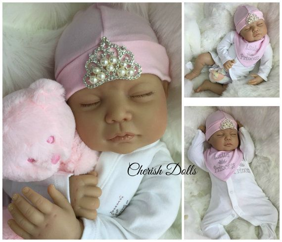 "Sale cheap Reborn doll girl 22"" Little Princess newborn size rooted eyelashes genesis 3/4 limbs heat paints real realistic  my fake baby"