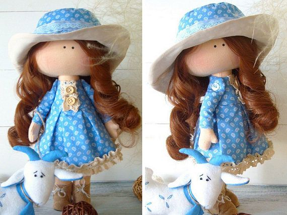 Rag doll Handmade doll Fabric doll Cloth doll Muñecas Baby
