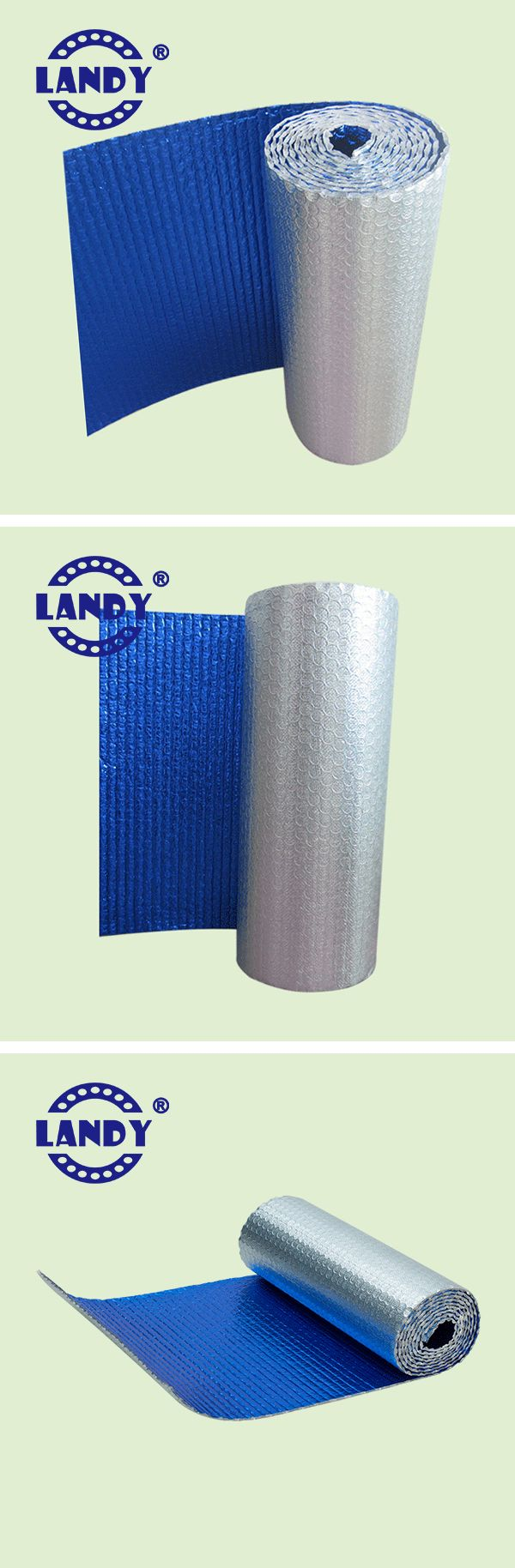 Colored Coated Aluminum Foil Big Bubble Insulation Material #thermal insulation #bubble insulation #steel roofing