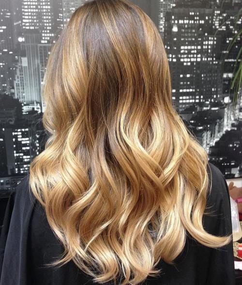 goldene-brown-und-blonde-balayage - Trends Neue Haar farben