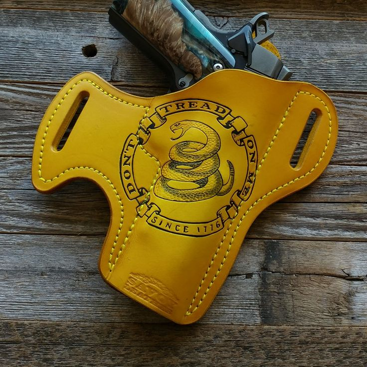 DTOM since 1776  in YELLOW  Savoy Leather custom holsters