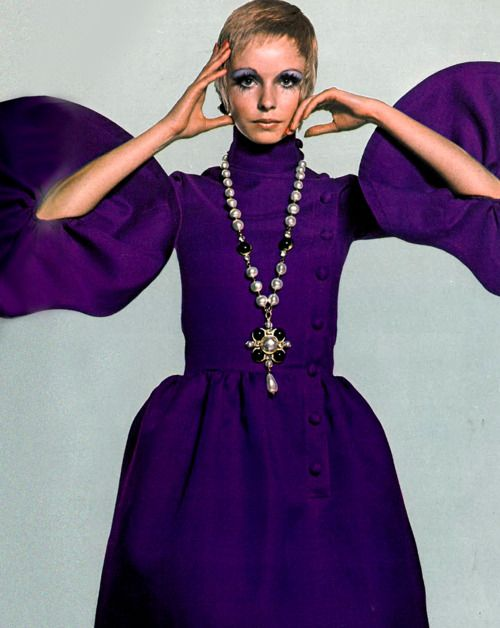 Maudie James by David Bailey, 1960s. #color #purple