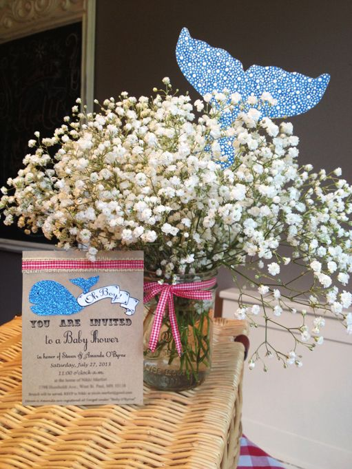 Lovely Scribbles: Whale Themed Baby Shower