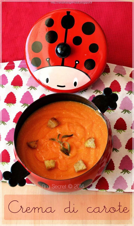 Crema di carote con mandorle alla salvia